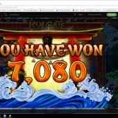 Just Cracked $328 USD in Bitcoin playing new slot Koi Gate at PlayBitStarz.com